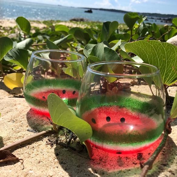 西瓜玻璃杯